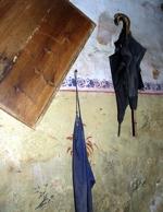 Bild aus dem Museum, welches einen alten Schirm zeigt